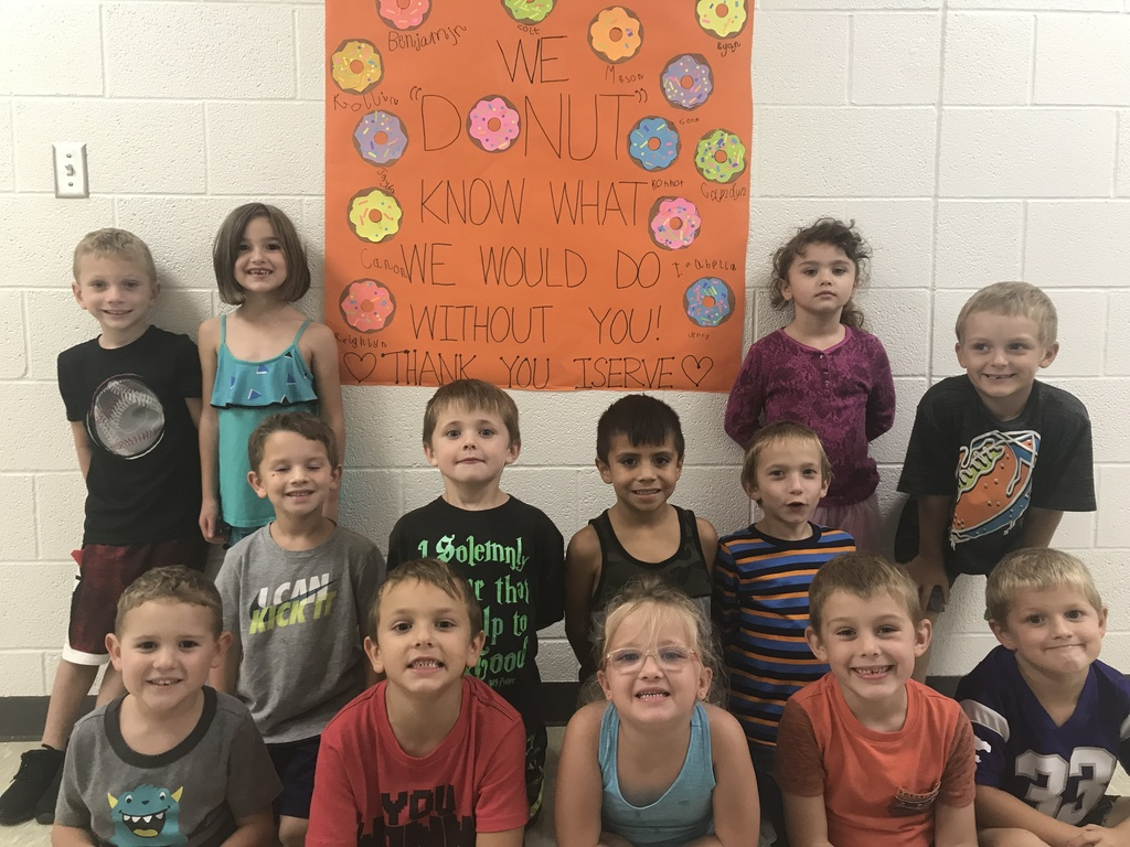 "MS. BARRETT'S K CLASS SAYS ""THANK YOU"""