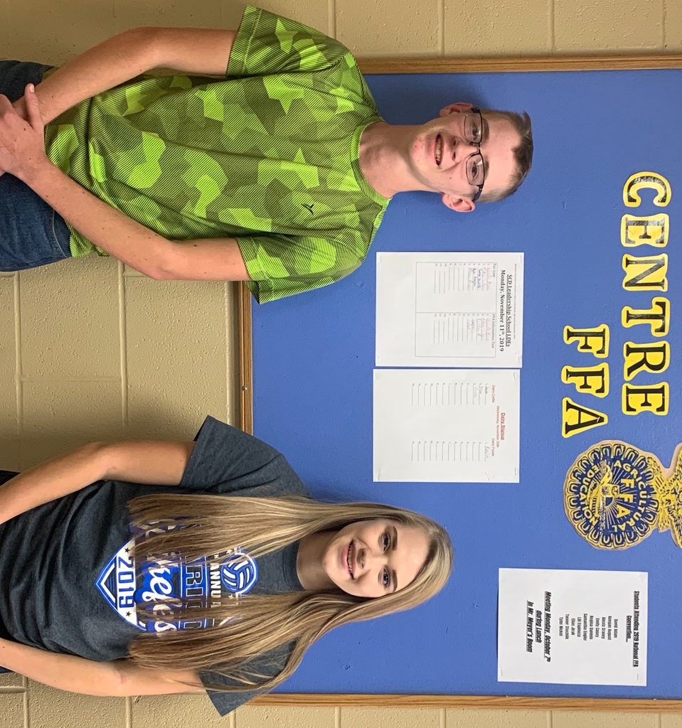 Tanner Stuchlik and Emma David both places in the top 10 in the FFA SCD Senior Entomology contest!