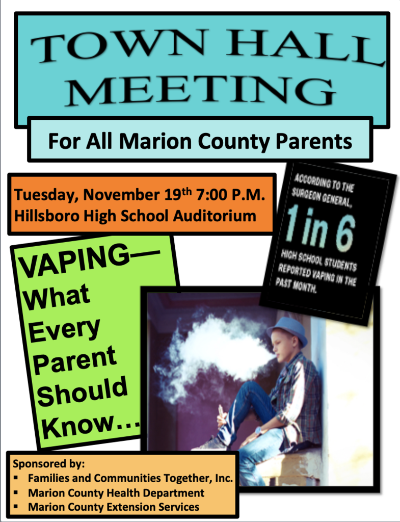 Marion County Town Hall on Vaping