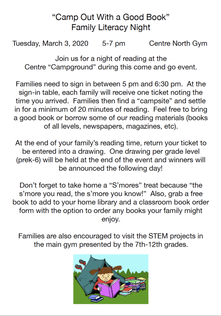 Literacy Night Flyer