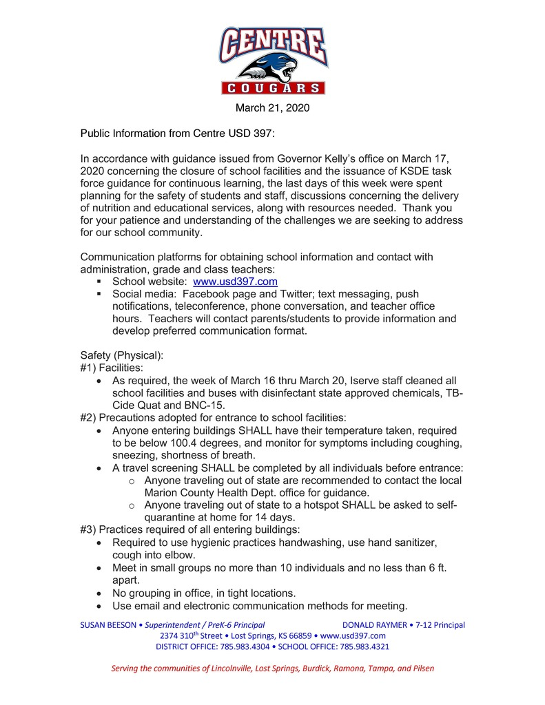 Public Parent Communication 3.21.2020 pg.1