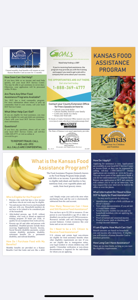 Kansas Food Assistance Program