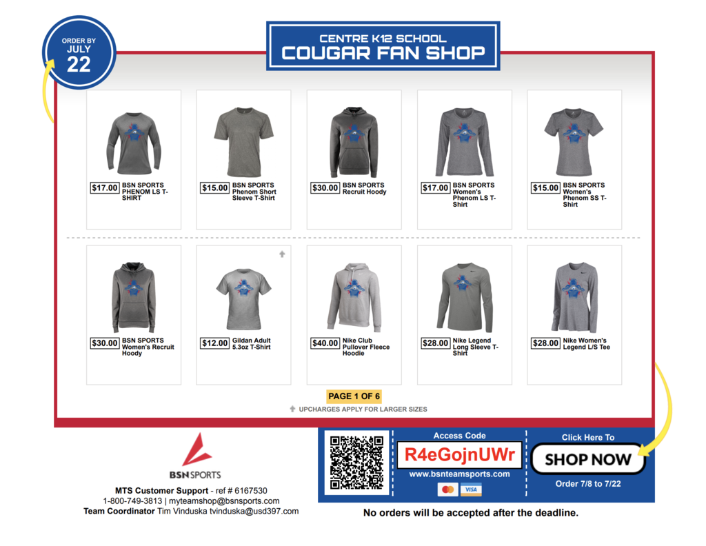 Cougar Fan Shop Flyer Image