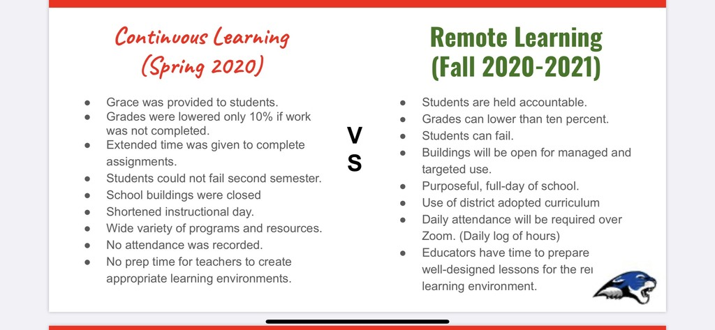 Remote Learning in 2020-2021 School Year
