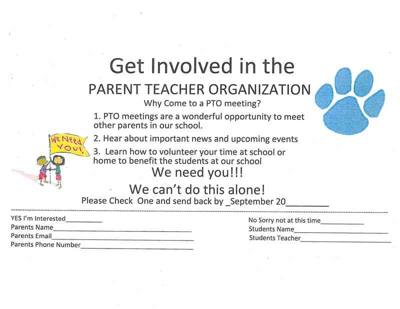 Get Involved with PTO!!